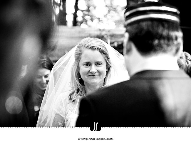 Bride faces her groom in redwood grove - Redwood Regional Park - Oakland Wedding