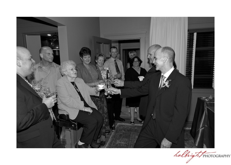 Grooms Toast with their guests - San Francisco LGBT Wedding - San Francisco Wedding Photographer