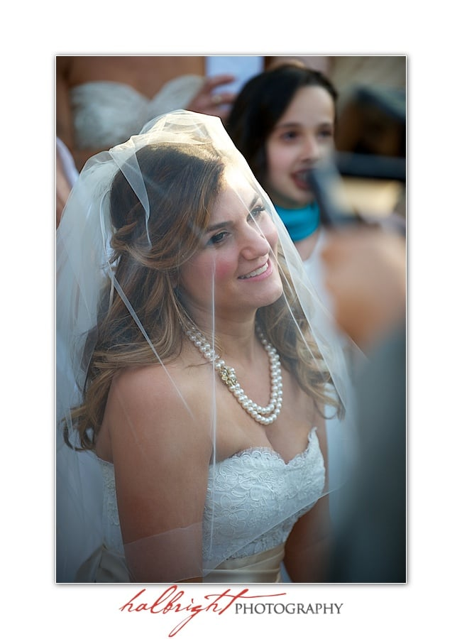Bride wearing white wedding dress and veil | Napa Wedding - Yountville Wedding - Villagio Inn and Spa