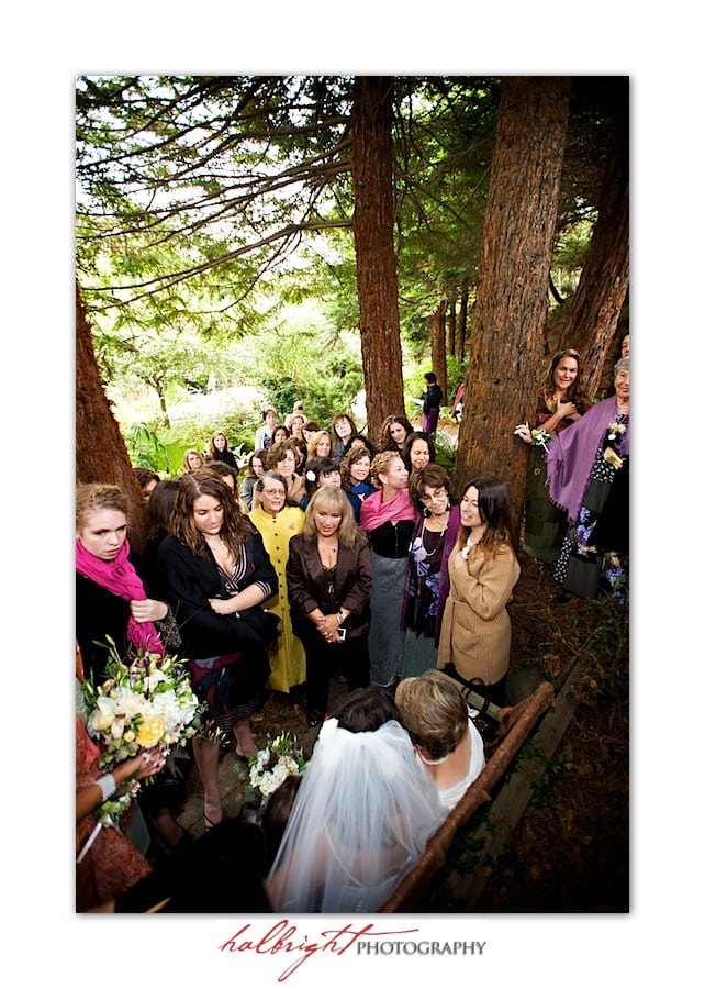 Nina surrounded by family and friends for her Kabbalat Panim | Bodega Bay Secret Garden - Wedding
