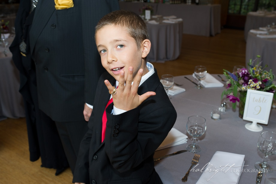 Brazil Room Wedding - Berkeley | ring bearer shows wedding rings