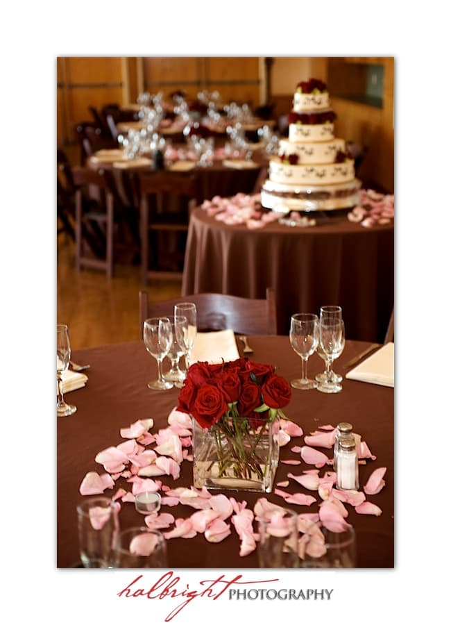 Wedding Decor - Wedding Cake - Wedding Table Design - Oakland Wedding - Joaquin Miller Park and Community Center