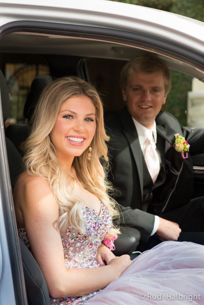 In car on the way to Senior Ball | Senior Ball - Orinda - Campolindo High School