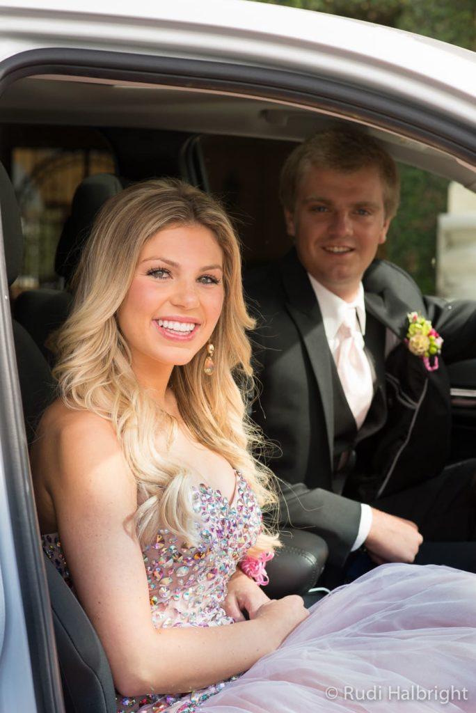 In car on the way to Senior Ball | Senior Ball - Orinda - Campolindo High School