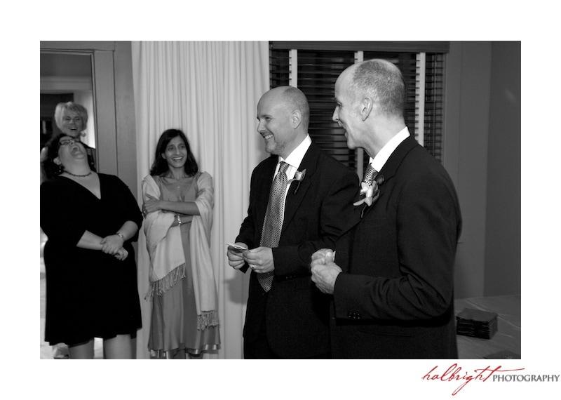 Grooms speak to their guests - San Francisco Wedding - LGBT Wedding