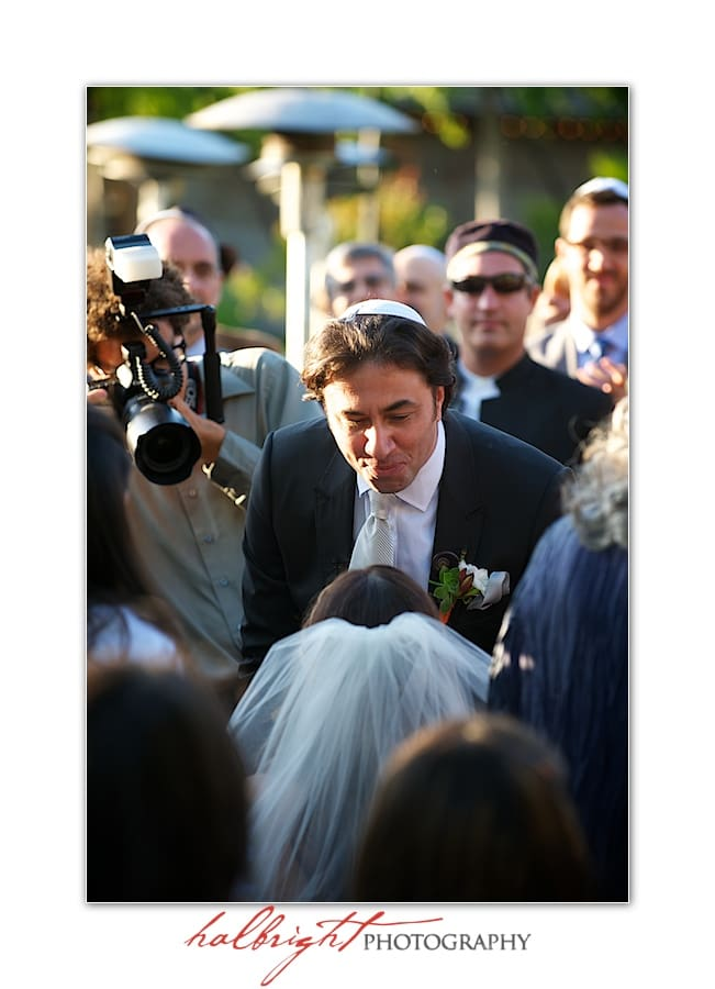 Groom Greets His Bride | Napa Wedding - Yountville Wedding - Villagio Inn and Spa - Bedeken