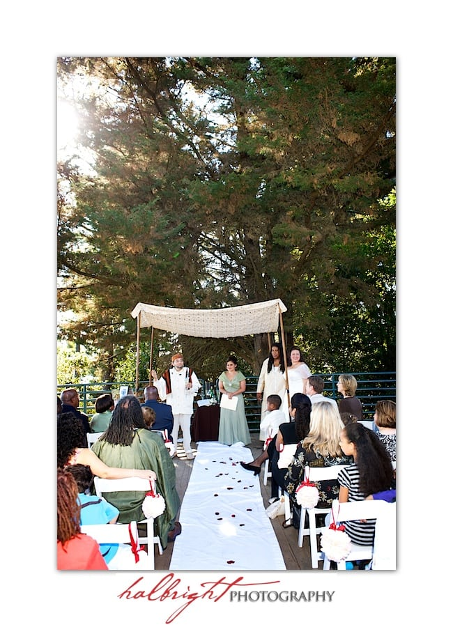 Wedding Ceremony - Rabbi David Cooper - LGBT Wedding - Joaquin Miller Park and Community Center - Oakland Wedding