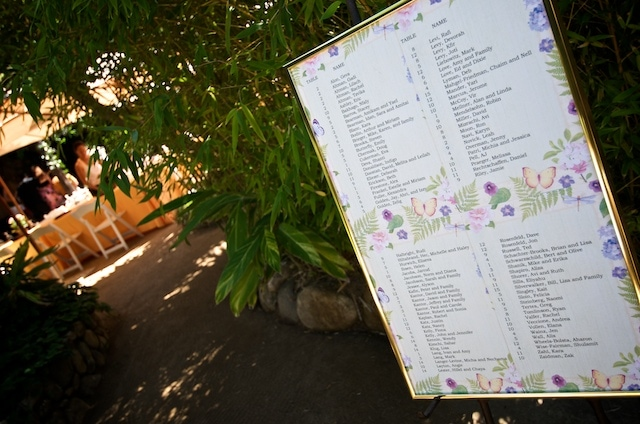 Holly Farm Carmel Valley California - Seating chart leading into Reception Area