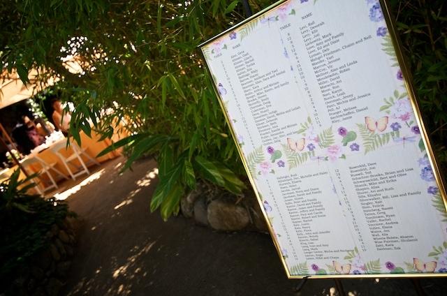 Holly Farm Carmel Valley California - Seating chart leading into Reception Area