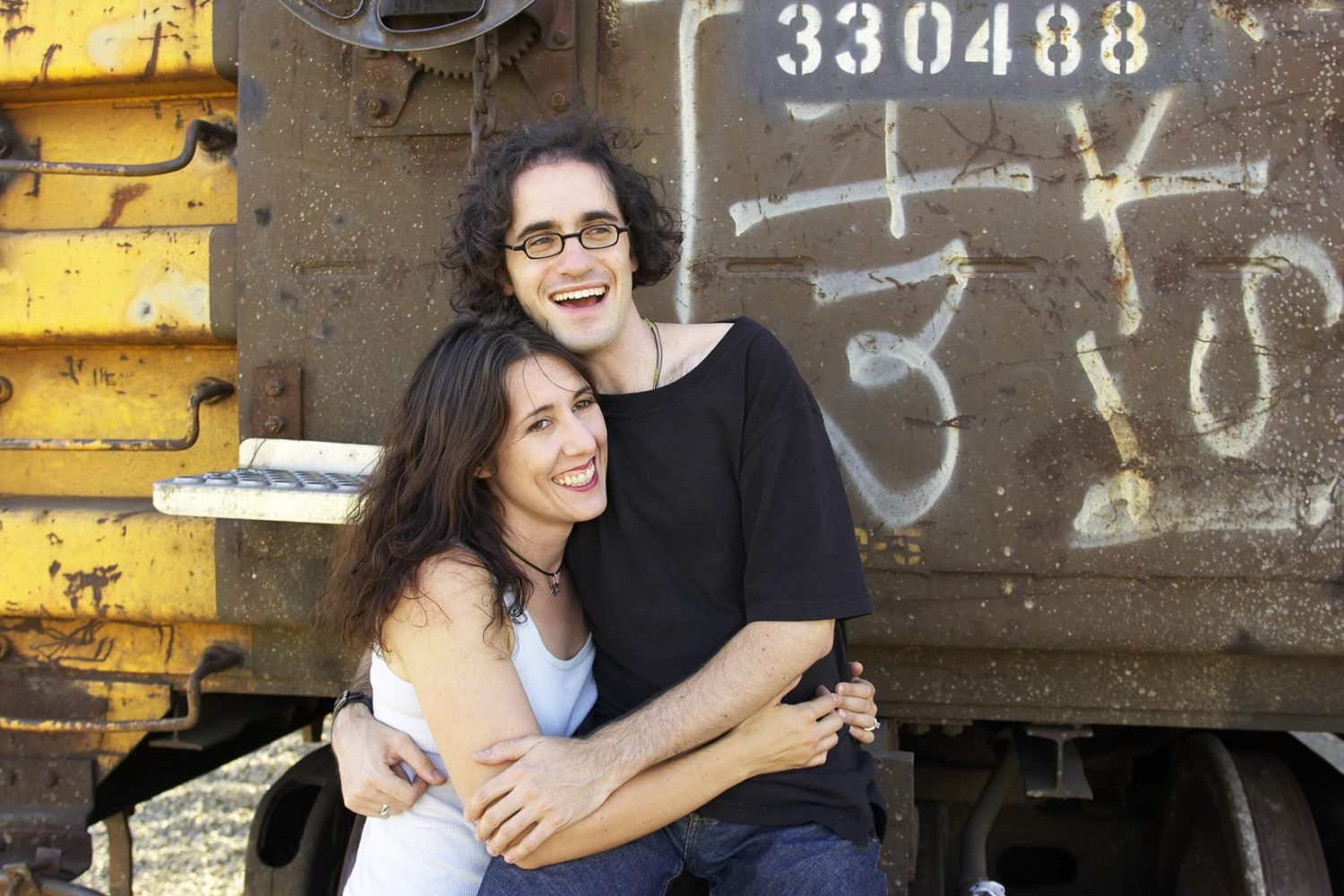 Engagement Portrait at the Oakland Train Yards