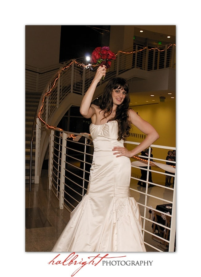 Throwing the Bouquet | San Jose City Hall Rotunda - Rotunda Wedding - Wedding Photography