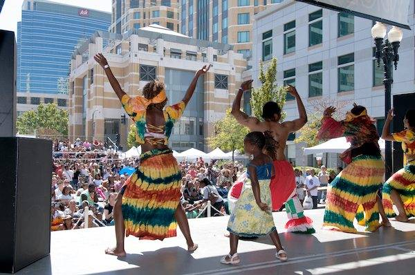 Dancers Perform at Oakland Art and Soul Festival