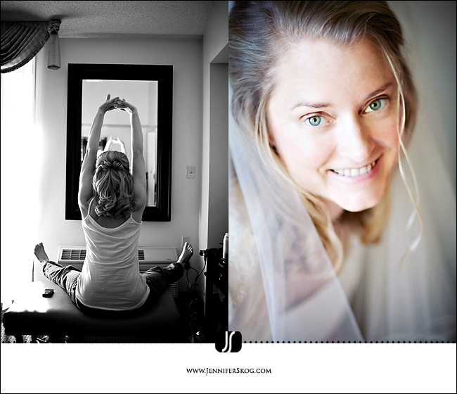 My beautiful wife - bride getting ready for her wedding