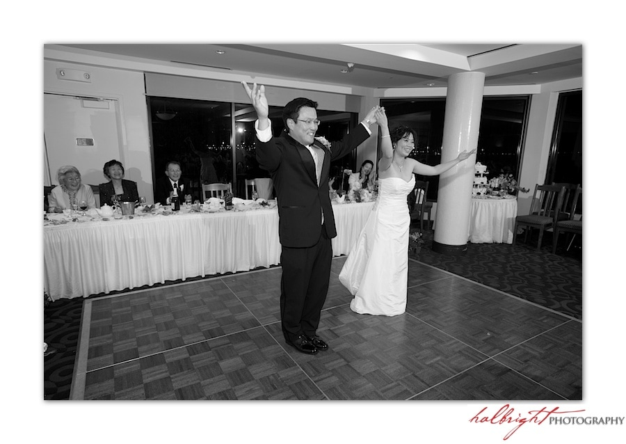 Bride and Groom take a bow after first dance | East Ocean Hong Kong Wedding - Wedding reception