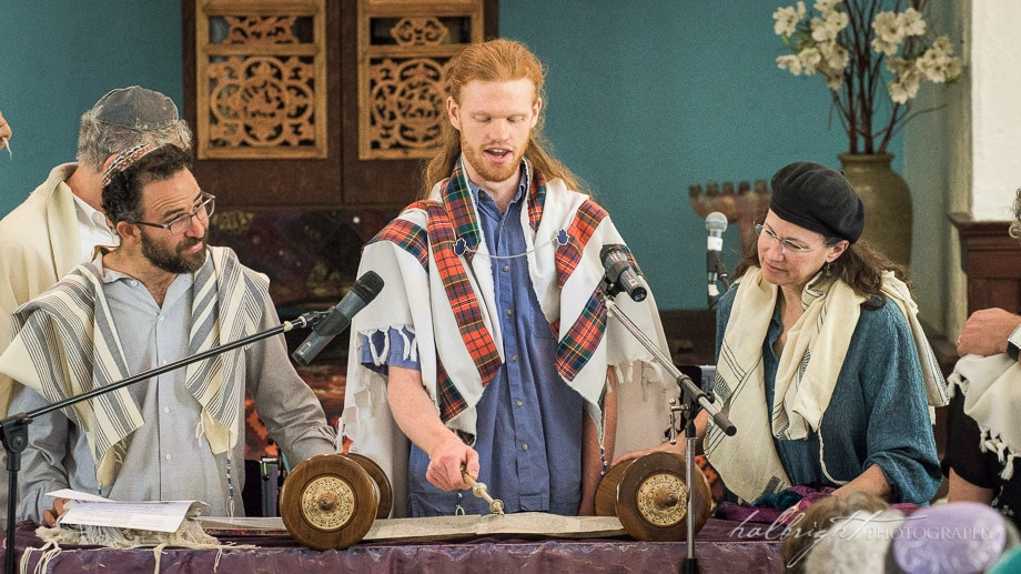 Study Partner Ian McPherson Helps Lead the Torah Reading