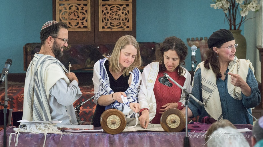 Janie joined by Danielle Salzman, reads from the Torah | B'nai Mitzvah - Chochmat Halev - Berkeley