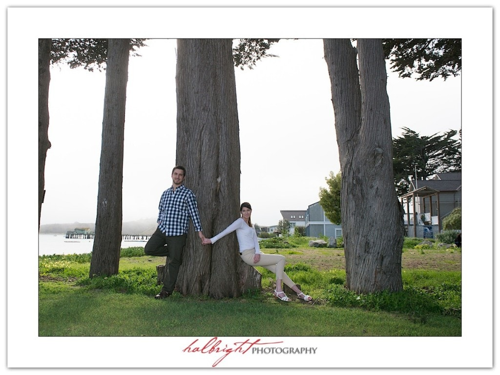 Portrait among the trees in Half Moon Bay | Engagement Portrait - Mavericks - Half Moon Bay - Engagement Portrait Photography