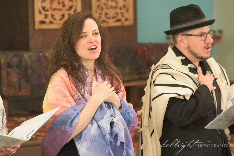 Bat Mitzvah Danielle Salzman sang during the group B'nei Mitzvah Service at Chochmat Halev