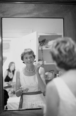 Allison, the brides, adds the final touches... - Napa Valley Wedding
