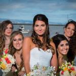 Bride and her bridesmaids - half moon bay wedding - mavericks half moon bay - wedding